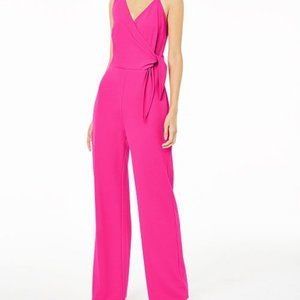 bar lll Womens Size 8 Jumpsuit Pink Tie Bodice